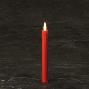 "8"" Red  Battery operated Taper Candle SC2711WWR"