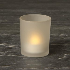 Hire Battery operated Tea Light and Frosted Glass Holder SH2621