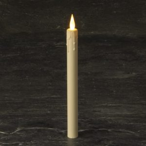 "Hire 10"" LED Taper Candle Model SH2713WW"