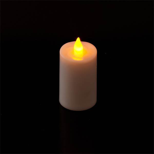 Red Frosted Glass & Battery operated candle SC2200