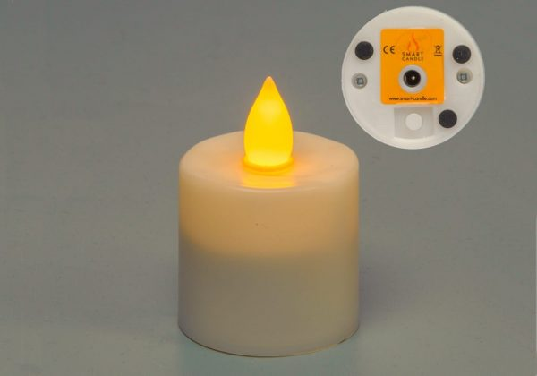 Platinum Amber Flame Rechargeable Candle SC1109A